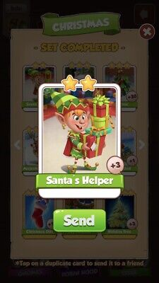 Coin Master Santa's Helper. Buy One Card, Get Additional Free. Fast Delivery