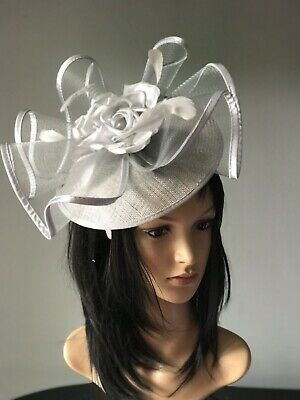 Nigel Rayment Silver Grey Wedding Formal Fascinator Hat Disc Mother Of The Bride