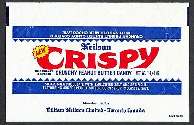 Neilson Crispy Peanut Butter Candy vintage chocolate bar wrapper from Canada