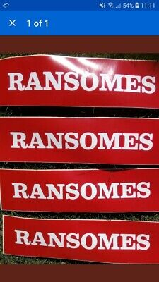 4 Genuine Ransomes Tractor Plough Mower Decals Stickers
