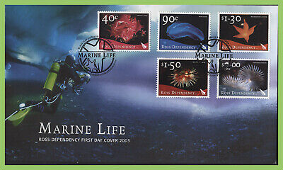 Ross Dependency 2003 Marine Life set on First Day Cover