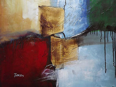colorful hand painted abstract oil painting canvas contemporary original modern