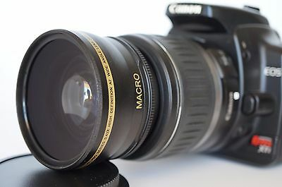Wide Angle Macro Lens for Canon Eos Digital Rebel T7/6 i sl/1/2  with 18-55 New