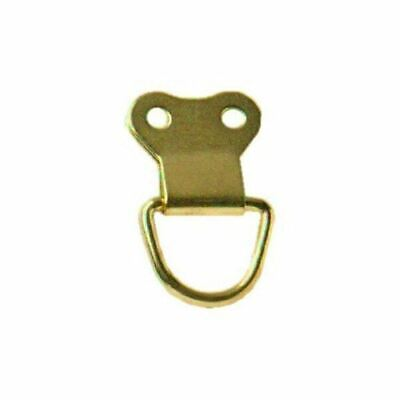 3 Picture D Ring Large Brass Plated Framing Hooks Hanging Wall DIY