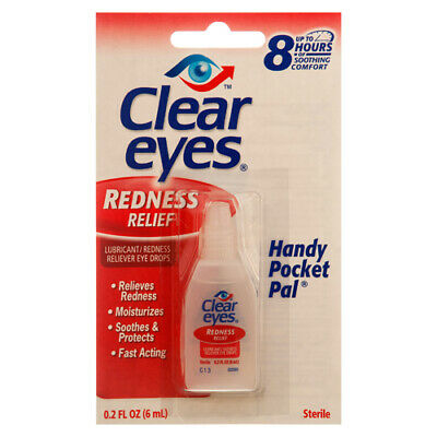 New 314163  Clear Eyes Redness Relief 0.2 Oz (12-Pack) Cough Meds Cheap