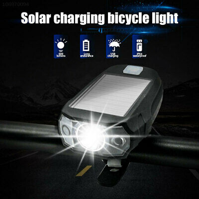 9CD2 Solar Energy Front Light Bicycle Lamp LED Rear Lamp Durable Bike Lamp