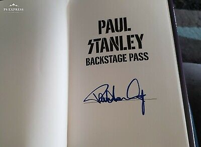 "Kiss Paul Stanley Book ""Backstage Pass"" Signed By Paul Limited Brand New 2019☆~"