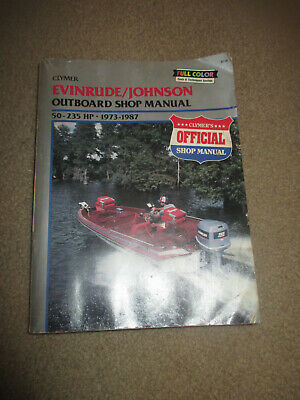 CLYMER EVINRUDE / JOHNSON Outboard Shop Manual 2 - 40 HP