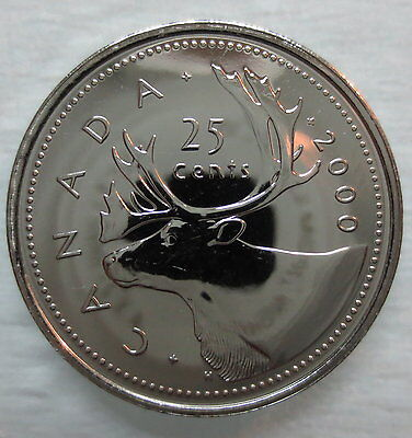 2000 Canada 25 Cents Proof-Like Quarter Coin