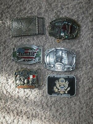 Lot of Vintage American Belt Buckles