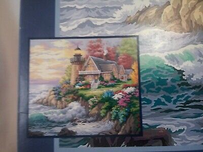 New Paint Works Paint By Number 20X16 Guardian Of The Sea Lighthouse Kit # 91129