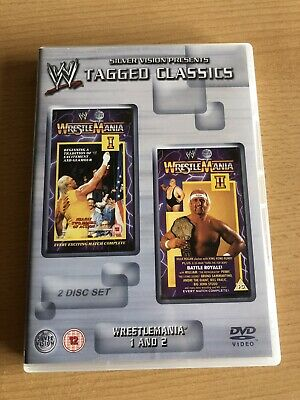 WWE Tagged Classics DVD WWF WrestleMania 1 & 2 Hulk Hogan Ultimate Warrior