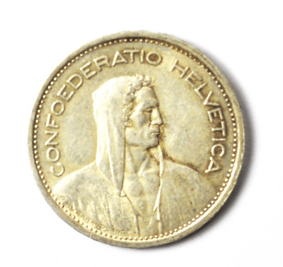 1953 B Switzerland 5 Five Francs Silver Coin KM# 40