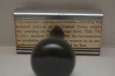 """RARE Safeguarding Info """"the national defense of the United States"""" Rubber Stamp"""