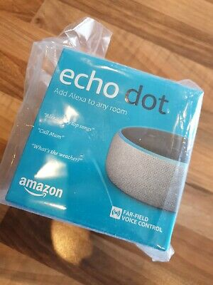 Amazon Echo Dot (3rd Generation) - Smart Speaker with Alexa - Heather Grey