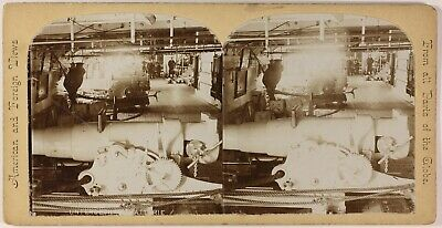 Bateau mitaire Canon USA Photo Stereo PL53L4n24 Vintage Citrate c1900