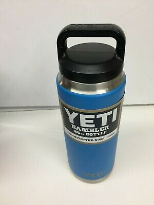 b41264fe5b YETI Rambler 26oz Vacuum Insulated Stainless Steel Bottle with Cap, Tahoe  Blue.