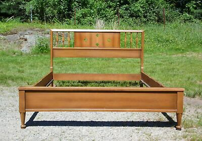 Vintage 1960's American Sculptural Mid Century Modern Walnut Full Double Bed