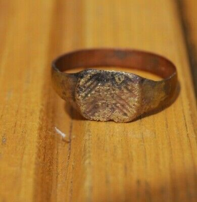 Pre- Medieval Middle Ages Or Roman Ring Bronze Copper?