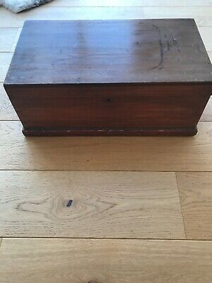 Rustic Victorian Pine Chest Trunk Box Cute Compact Toy Chest Sewing Box