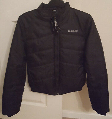 Girls LA Gear Age 13yrs Black Padded Jacket NEW