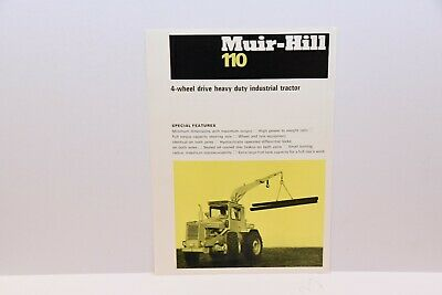 Muir Hill 110 industrial tractor with crane sales leaflet brochure 1970