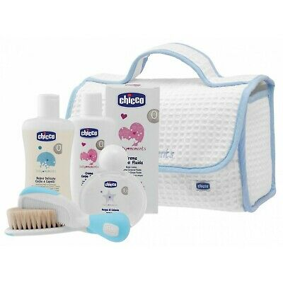 Set Gift Chicco Baby Moments Beauty with Handle Light Blue