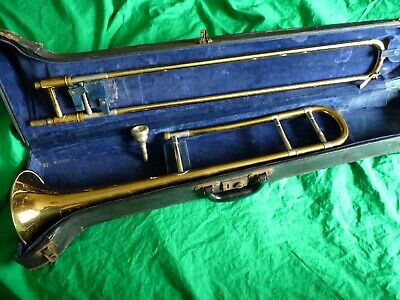 Antique / vintage Besson & Co. trombone in case with mouthpiece