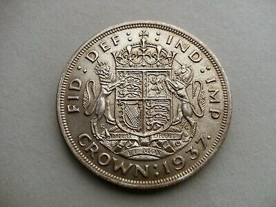 King George VI 1937 Coronation Silver Crown Coin. Reference Spink 4078