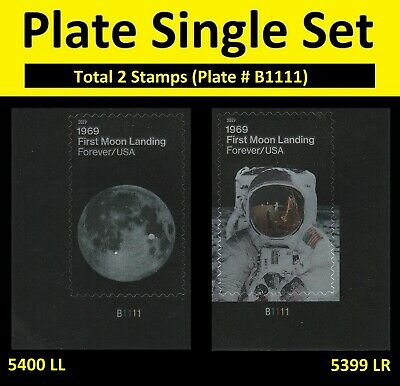 US 5399-5400 1969 First Moon Landing forever plate set (2 stamps) MNH 2019