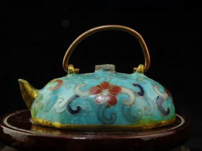 chinese old  copper-plating silver hand engraving cloisonne water drop