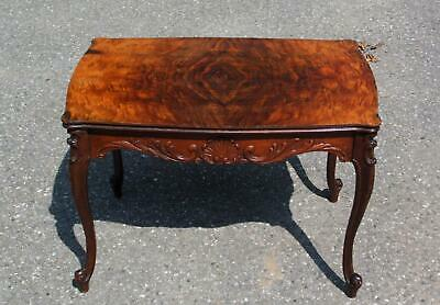 ​Antique Vanleigh Mahogany French Provincial Hollywood Regency Cocktail Table