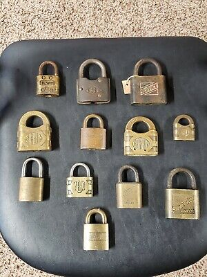 Lot Of 12 Antique Vintage Padlocks