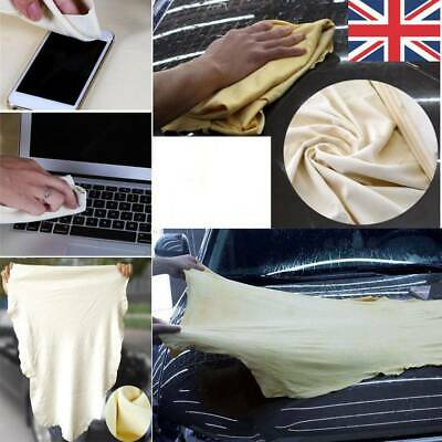 Car Cleaning Washing Chamois Leather Cloth Extra Large Absorbent Drying Towel UK