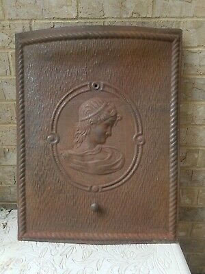 1800s Antique Victorian Fire Place Cover Pressed Tin High Relief - Original Cond