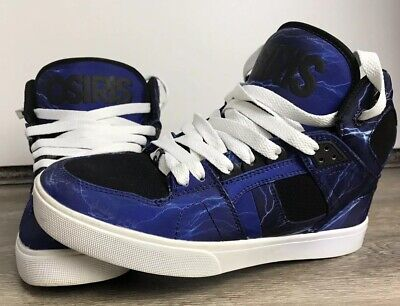 ef0ec17cf5 Osiris NYC 83 Vulc Skate Shoes Mens Size 7 High Top Skateboarding Blue  Lightning