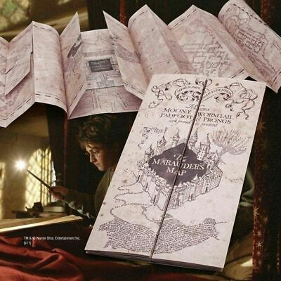 Harry Potter Hogwarts The Marauder's Map Kraft Paper The Wizarding World 77x22cm