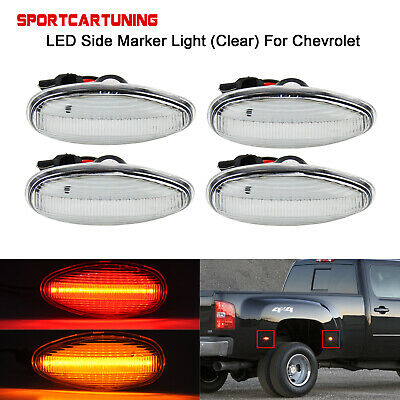 LED Side Fender Marker Lights Assembly For 2001-2014 Chevy Silverado GMC Sierra