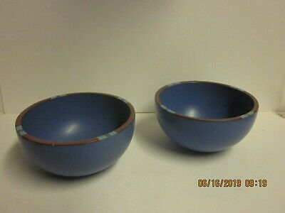 """2  DANSK """"Mesa"""" Sky Blue Cereal Bowls 5-1/8"""" X 2.5"""" - Great Condition"""