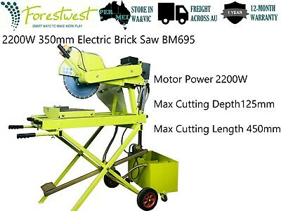 2200W 350mm Electric Brick Saw Wet Brick Cutter Stone Saw Heavy Duty BM695