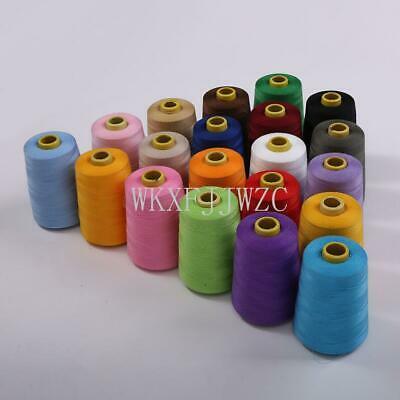 8000 Yards Industrial Overlock Sewing Machine Polyester Thread Sewing 20/color!