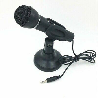 3.5mm Professional Studio Microphone Mic With Stand For Skype PC Tablet Desktop