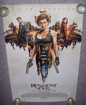 """Resident Evil : The Final Chapter ***Original Movie Poster Single-Sided 27""""x40"""""""