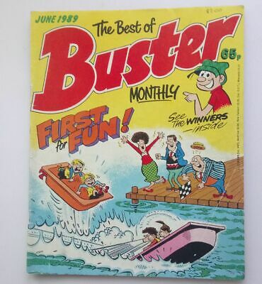 The Best of Buster Monthly June 1989 Collectable Childrens Kids Comic Fine UK