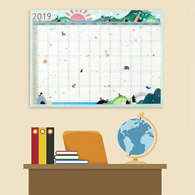 Wall Calendar 2019 365 Days Student Practical Daily Planner Paper Work Schedule
