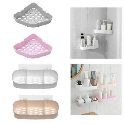 Mounted Kitchen Shower Gel Shampoo Organizer Bathroom Shelf Corner Storage Rack