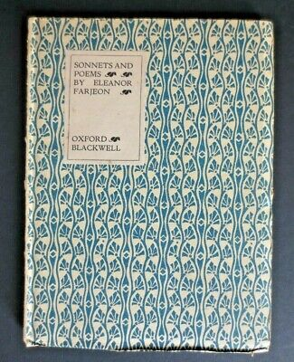1918 Eleanor Farjeon Sonnets and Poems 1st ed. in original Art Deco binding