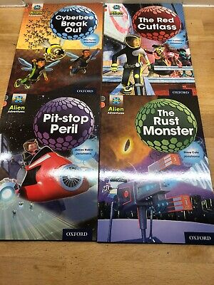 Project X Alien Adventures Book Band 13 Grey Oxford Level 13 X4 Books