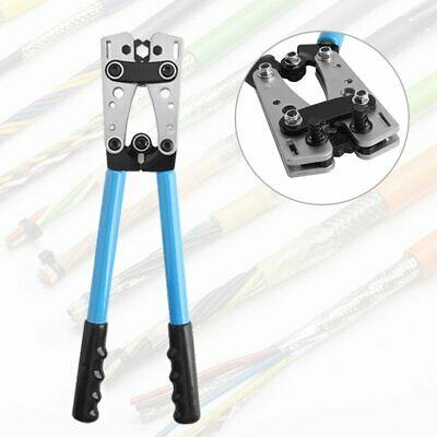 6-50mm² Terminal Cable Lug Plug Crimper Crimping Hand Tool Plier AWG9 38 x 7.5cm