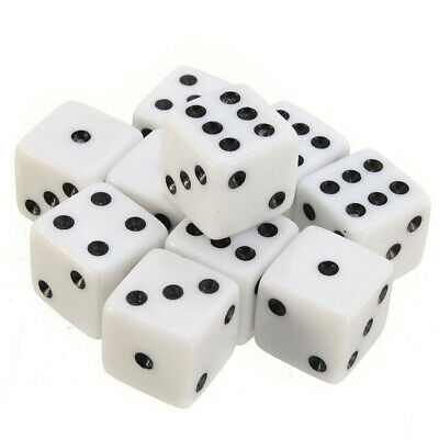 10Pcs 16mm D6 Square Opaque Six Sided Spot Dice For RPG Party Playing Games Toy
